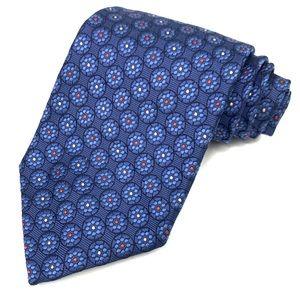 Ermenegildo Zegna 100% Silk Geometric Knit Tie